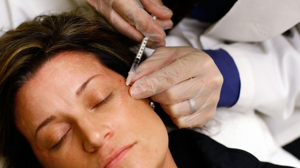 Woman receives birthday injection