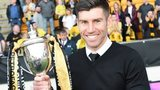 Livingston manager Mark Burchill with the Petrofac Training Cup