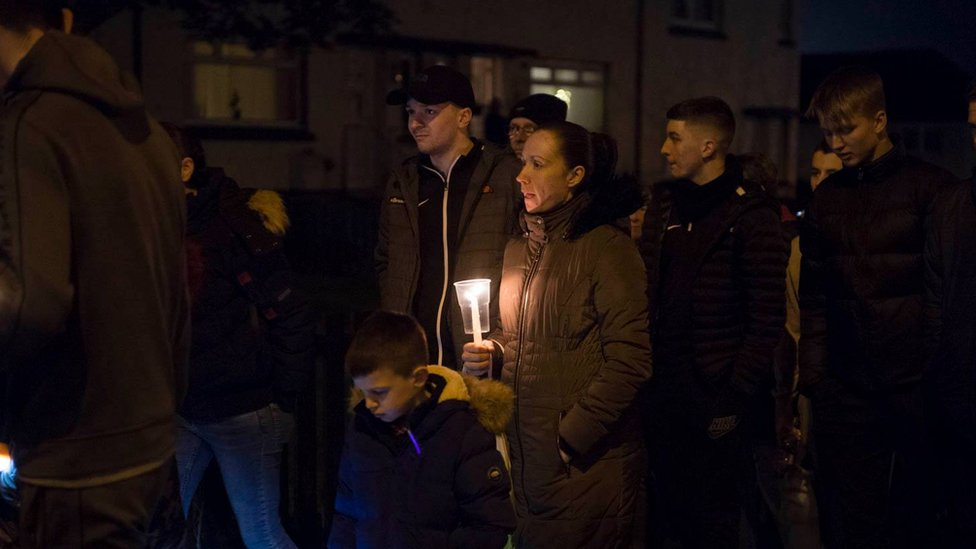 Motherwell community's silent protest for accident victim Abbie Mclaren