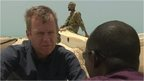 BBC's Andrew Harding on Somali beach