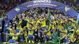 Sweden celebrate their European Under-21 Championship final win