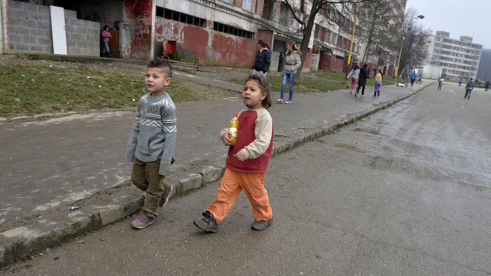 Children in Kosice, eastern Slovakia