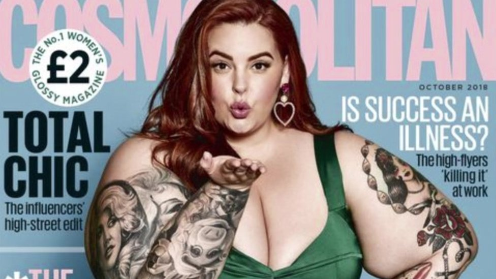 Plus-sized model 'cried when asked to be cover model'