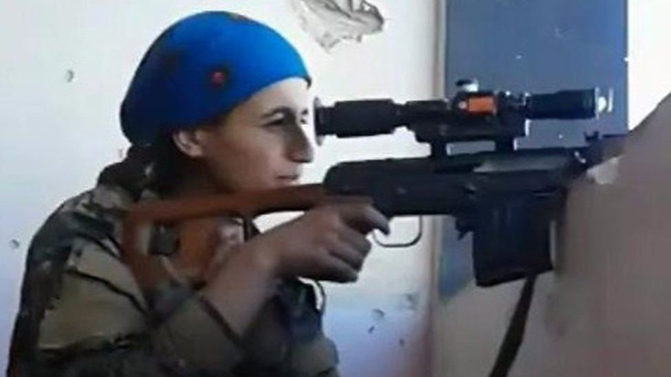 Female Kurdish sniper cheats death at hands of IS