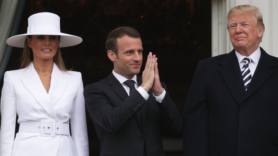 Macron sees Trump dropping Iran nuclear deal