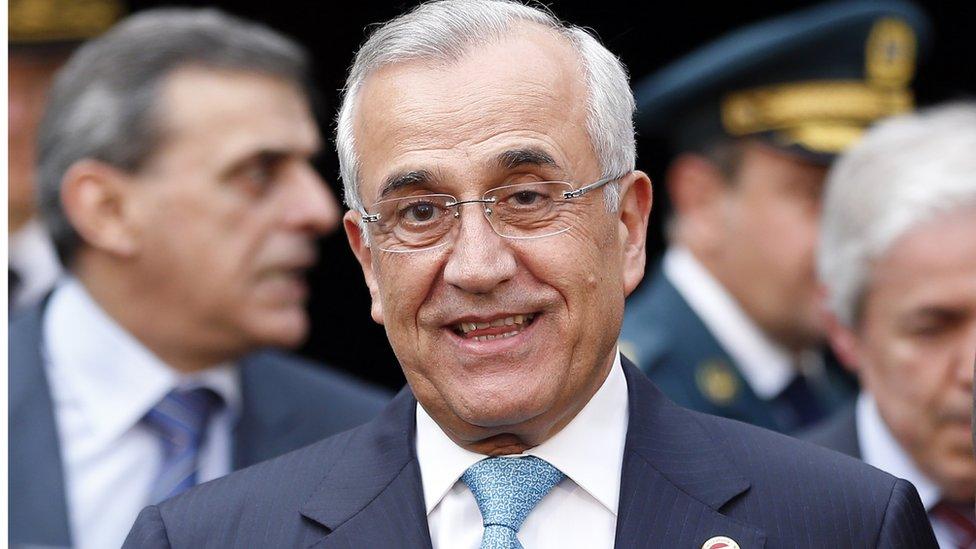 Former Lebanese president Michel Suleiman