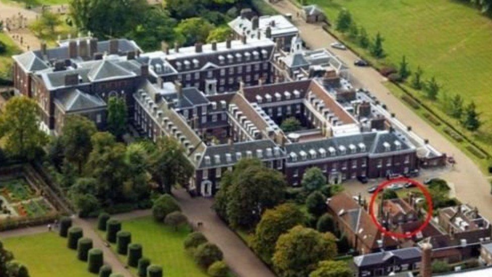 قصر كنسينغتون في لندن.