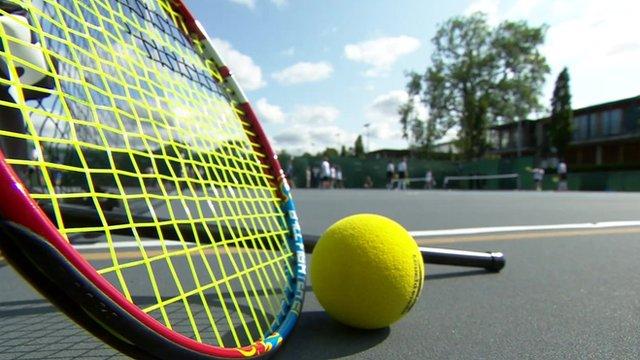 Touch Tennis racquet and ball
