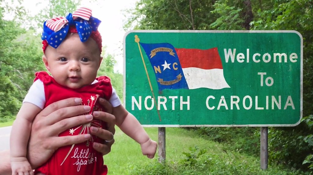 Well-travelled baby visits all 50 US states