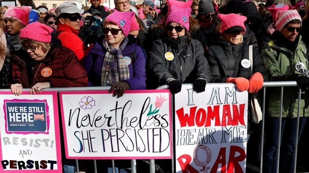 Women's marches across the US