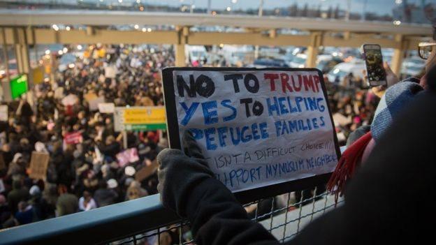 Demonstrasi kerap melanda Amerika terkait kebijakan imigrasi Trump