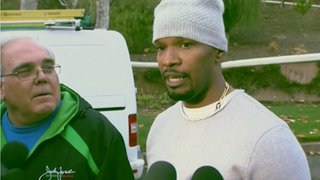 Jamie Foxx rescues man from car fire