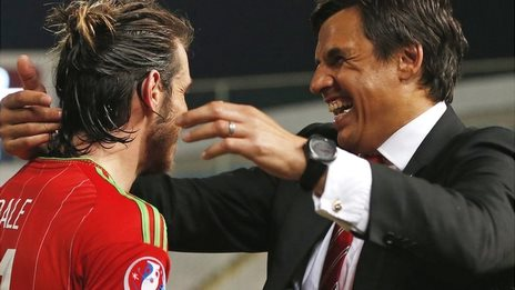 Wales forward Gareth Bale and manager Chris Coleman