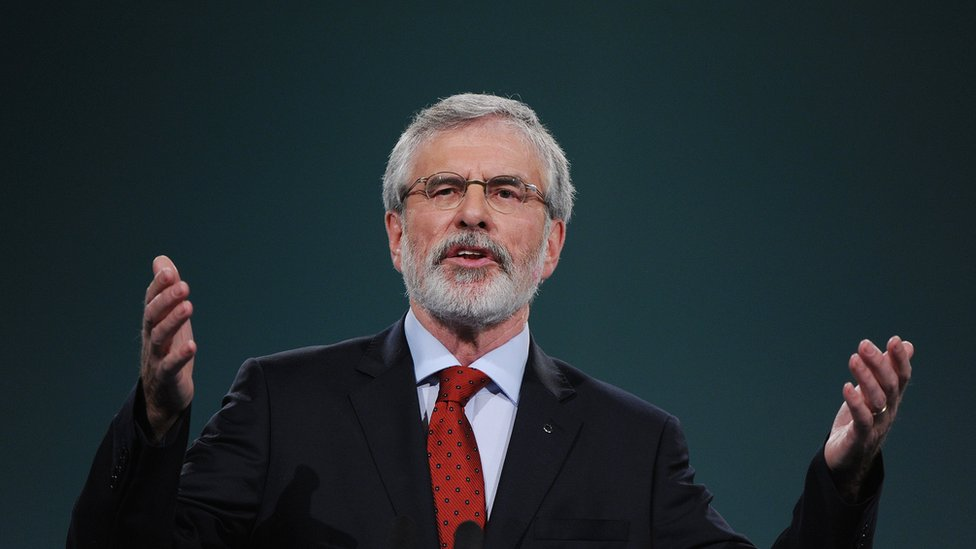 Gerry Adams to stand down as Sinn Féin leader next year