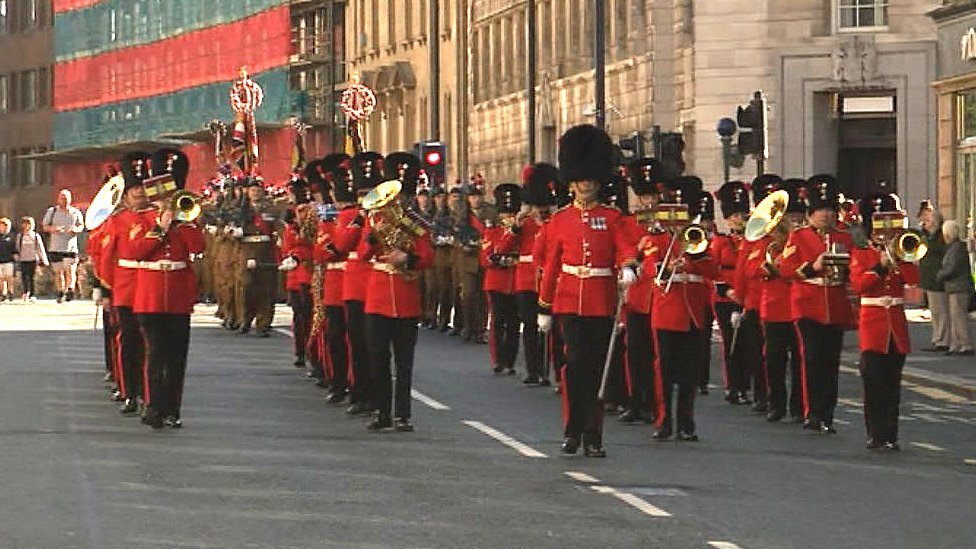 Newcastle parade marks 50th year of Royal Fusilier Regiment