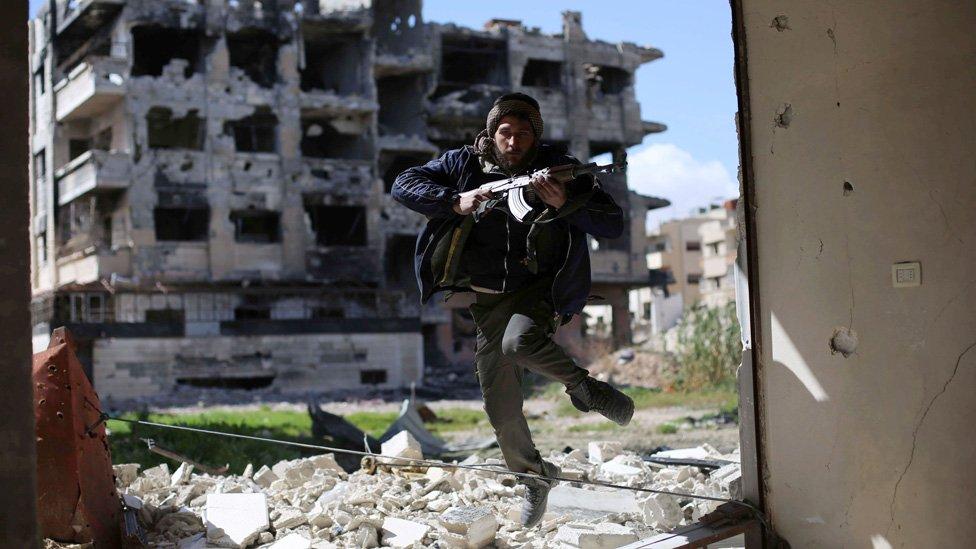 Rebel fighter in Syria