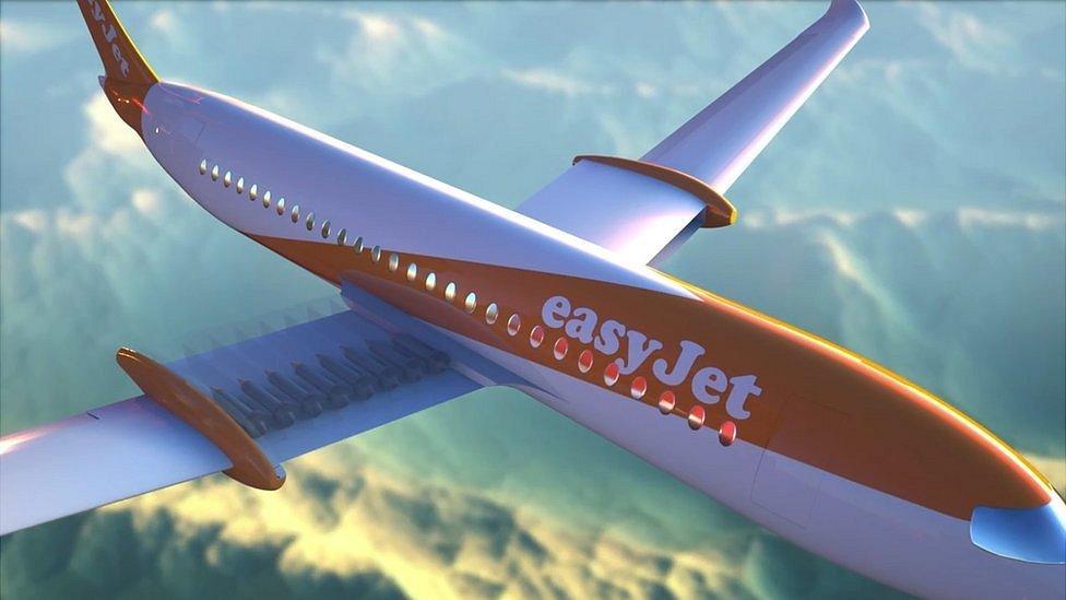 Prototipo de un avión de Easyjet.