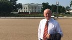 Martin McGuinness was photographed outside the White House during his three-day US trip