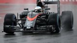 Fernando Alonso at the Sochi F1 circuit
