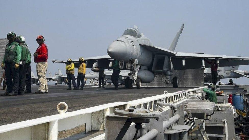 US aircraft carrier USS Dwight D. Eisenhower (CVN 69) in the Gulf