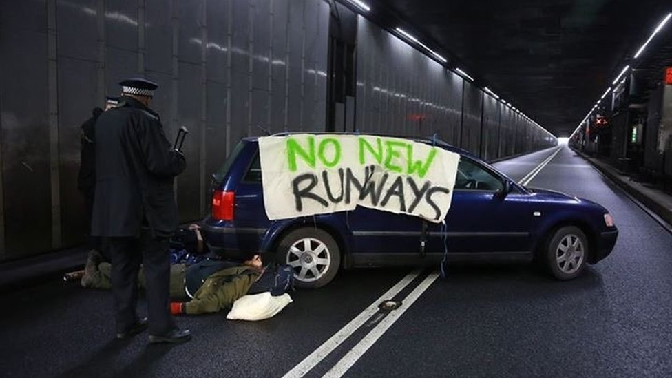 Protesters arrested after Heathrow Airport tunnel blocked