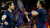 Andy and Jamie Murray celebrate