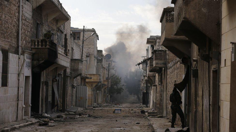 شوارع خالية شرقي حلب