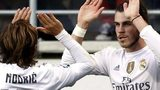 Gareth Bale celebrates scoring for Real Madrid at Eibar