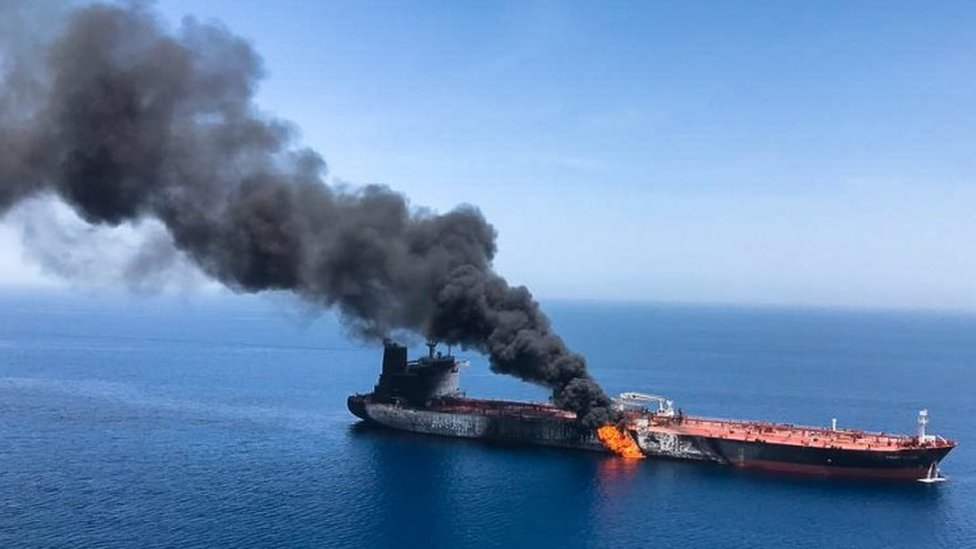 Gulf of Oman tanker 'attacks': Crews rescued amid rising tensions
