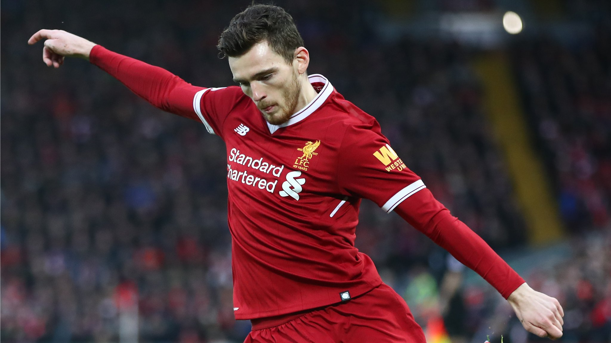 Robertson gifts Reds top to young fan - but not his own as 'no-one wants left-back's shirt'
