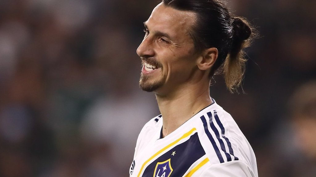 Zlatan Ibrahimovic  LA Galaxy striker scores his first MLS hat-trick ... 22e1db2b9