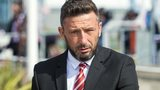 Derek McInnes at Aberdeen Airport