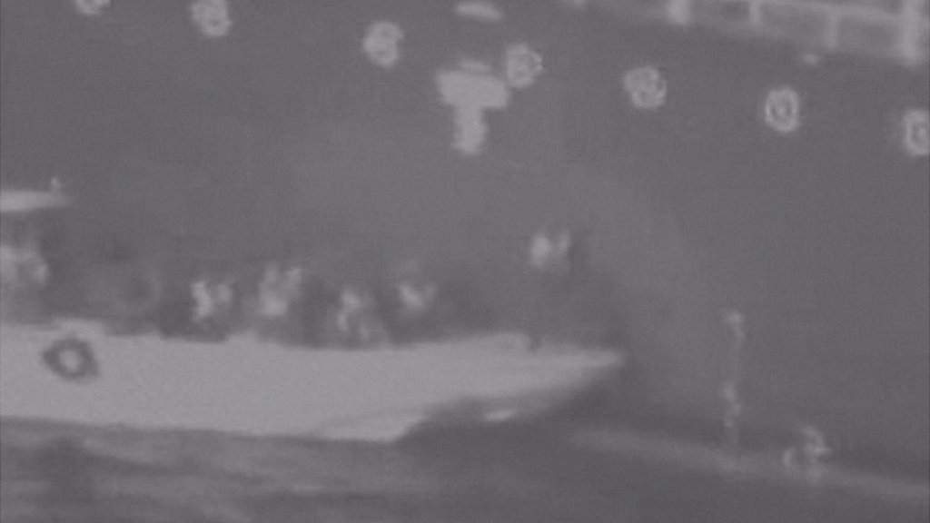 Gulf of Oman tanker attacks: US video shows 'Iran removing mine'