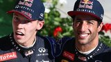 Red Bull's Daniil Kvyat and Daniel Ricciardo