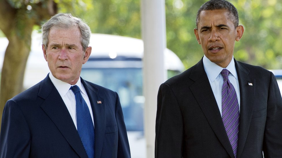 Geroge W. Bush y Barack Obama
