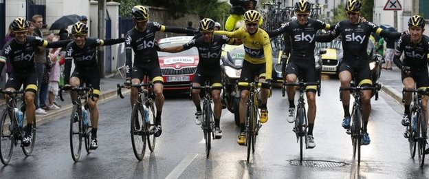 The eight Team Sky riders to finish the 2015 Tour de France