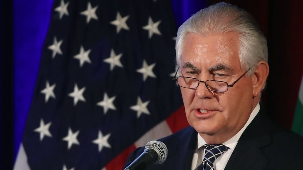 """El secretario de Estado de Estados Unidos, Rex Tillerson, dijo este miércoles que el acuerdo nuclear alcanzado por seis potencias, incluidas Rusia y China, con Irán en 2015 """"fracasó"""" en su objetivo."""