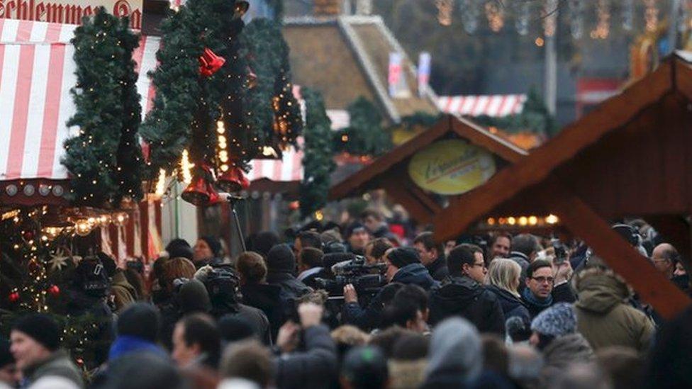 德國柏林聖誕市場2016年12月遭襲後重新開放