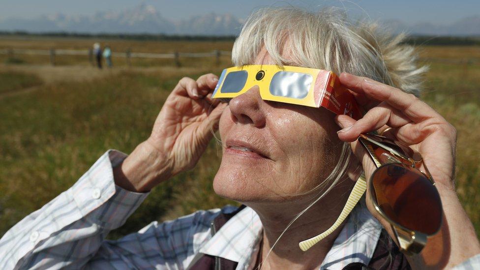 Miles de visitantes llegaron a Jackson Hole el 21 de agosto para ver el eclipse solar total.