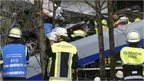 The scene of the train crash in Bavaria