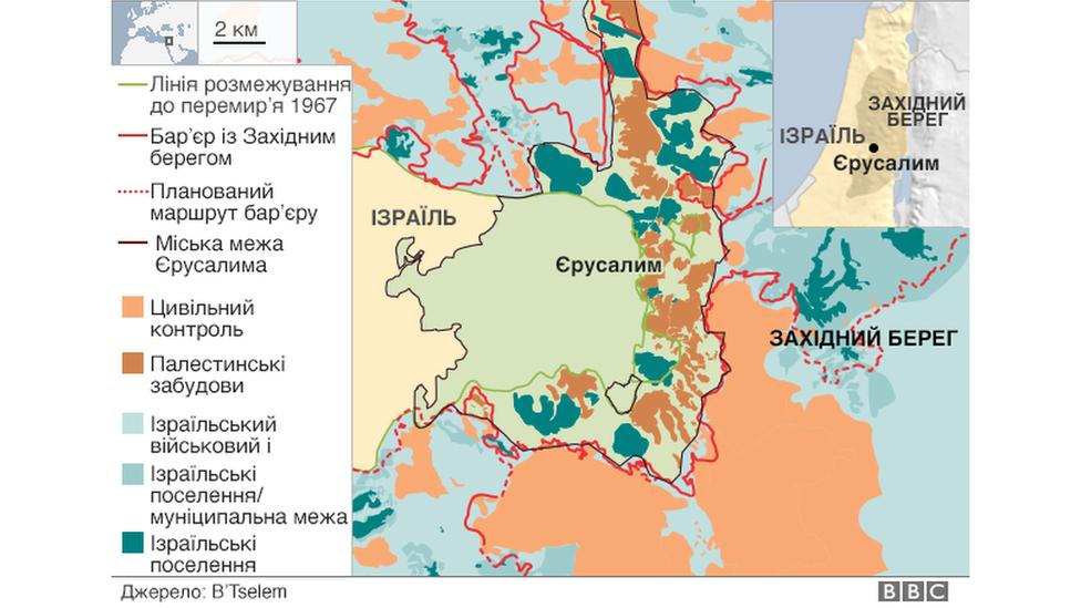 єрусалим, карта