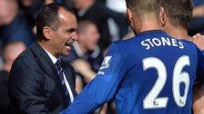 Everton manager Roberto Martinez and John Stones