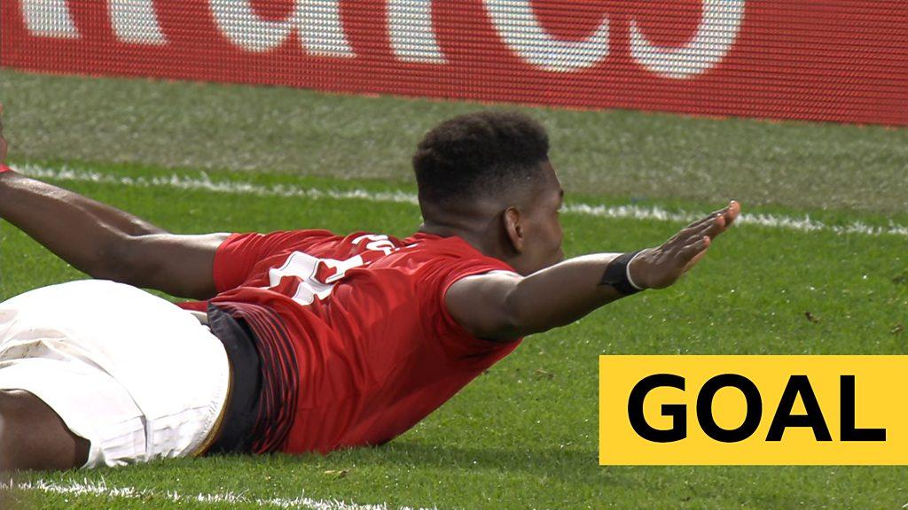 FA Cup: Paul Pogba header doubles Man United's lead against Chelsea