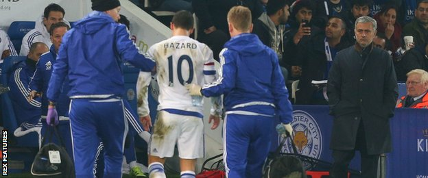 Eden Hazard comes off injured