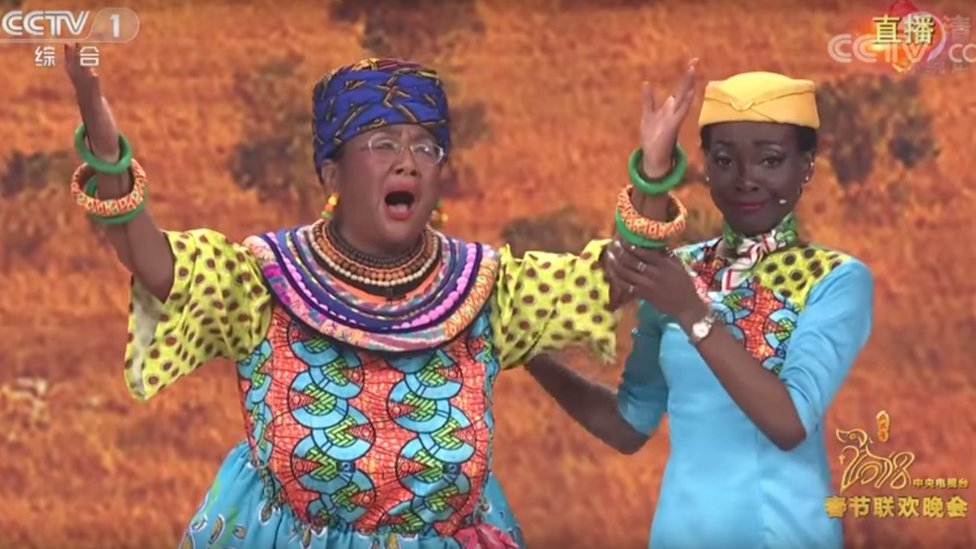 Lunar New Year: Chinese TV gala includes 'racist blackface' sketch