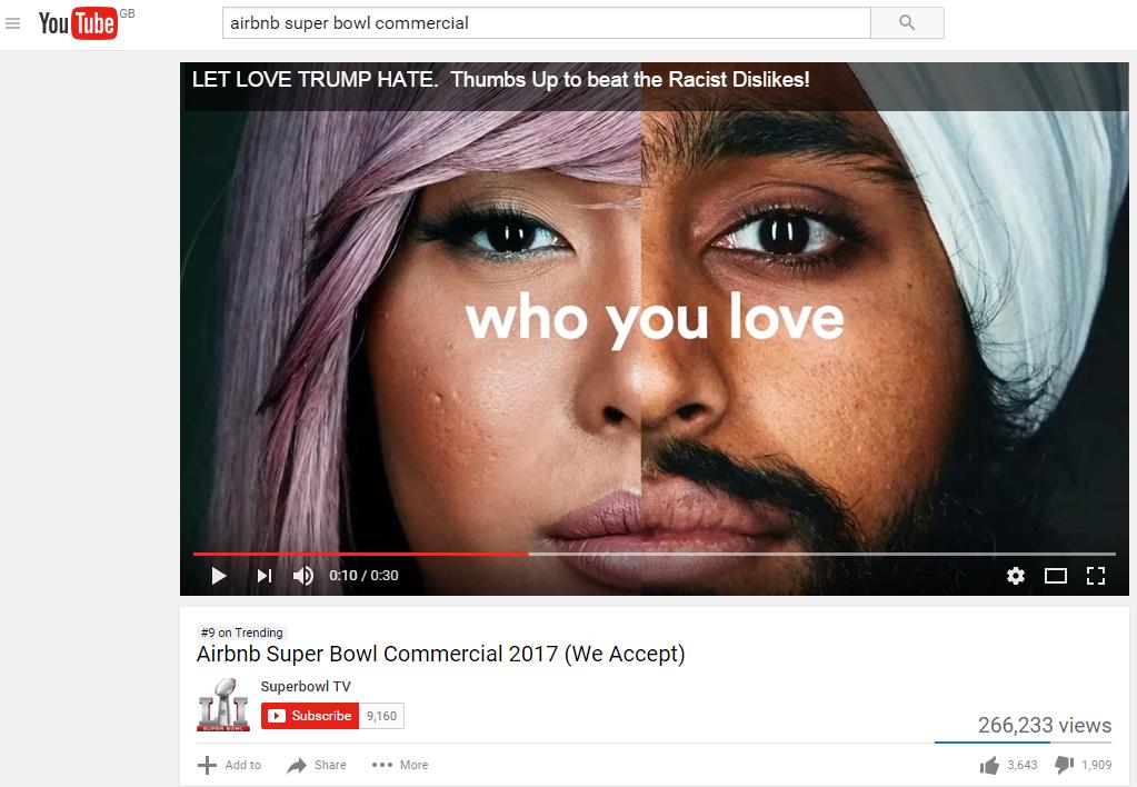 Comercial de Airbnb para el Super Bowl 2017