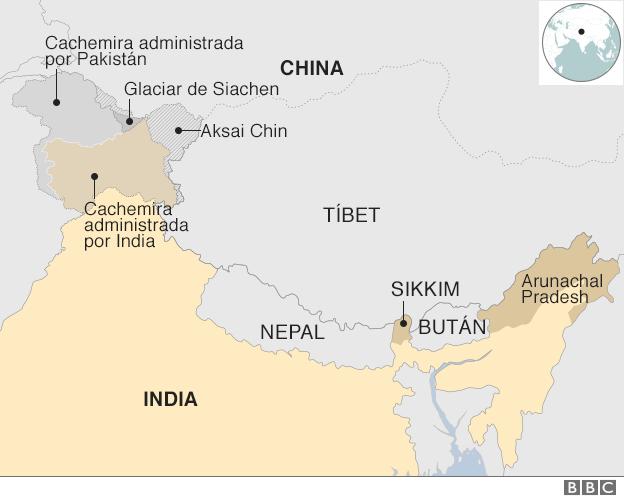 Las disputas territoriales entre china e india los dos feroces rivales de asia - Tiempo en pakistan ...