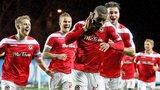 Newport celebrate Lenell John-Lewis' goal against