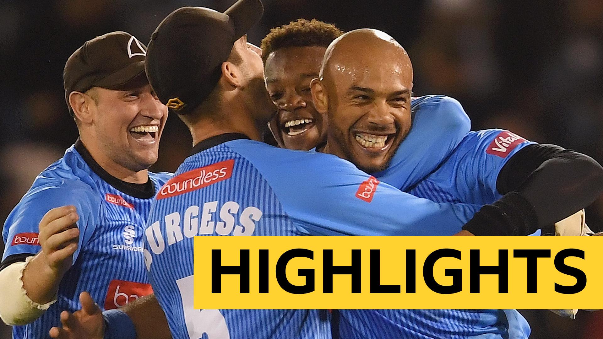 T20 Blast: Tymal Mills hat-trick as Sussex Sharks beat Glamorgan