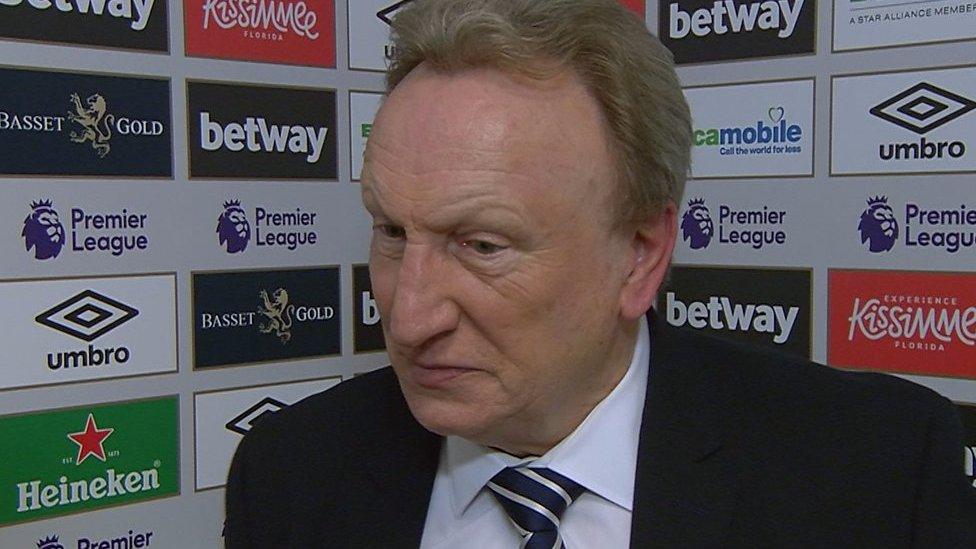 West Ham 3-1 Cardiff: Victor Camarasa will take next penalty - Neil Warnock